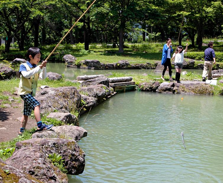 釣り体験コーナーの写真