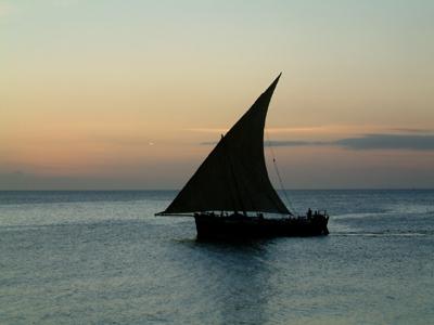 ザンジバルのダウ船