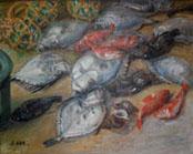 阿部セキさんの「小名浜魚市場」常設展