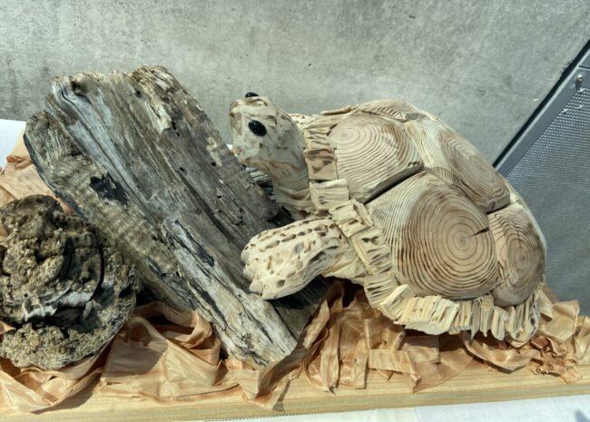 木工作品ウミガメ